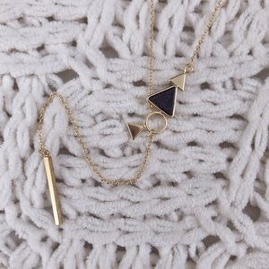 NWOT marble triangle drop necklace.